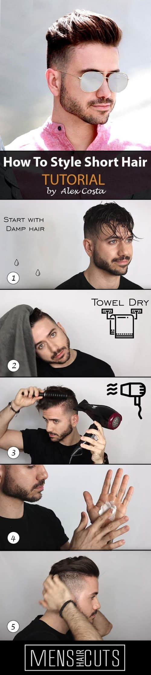 How To Style The Pompadour #pompadour #tutorial #shorthair #howtostyleshorthair