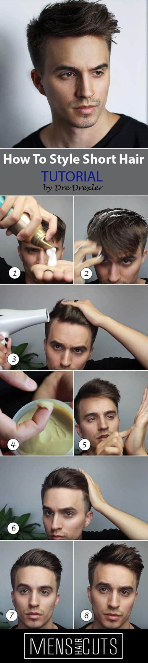How To Style The Quiff #quiff #tutorial #howtostyleshorthair #shorthair