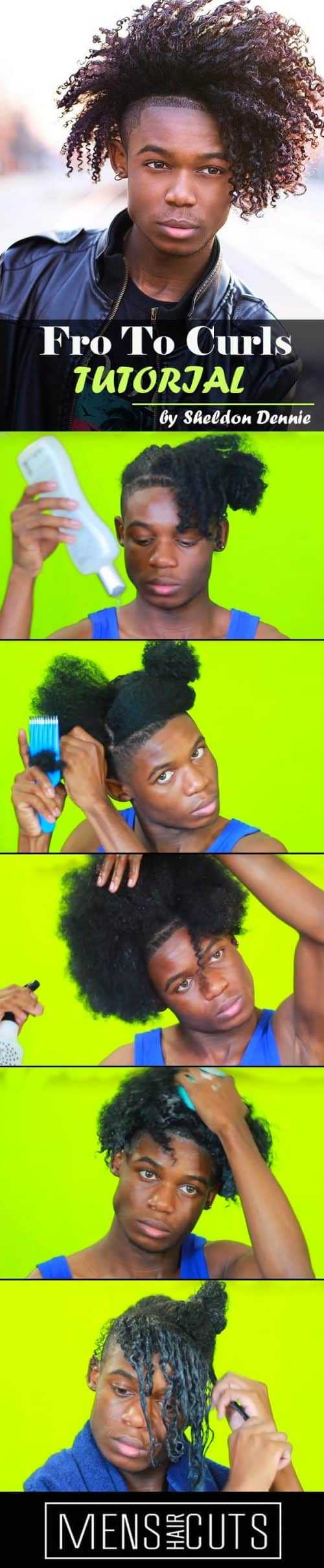 How To Make Textured Curls #texturedcurls #tutorial #afrohairstyles #blackmenhairstyles