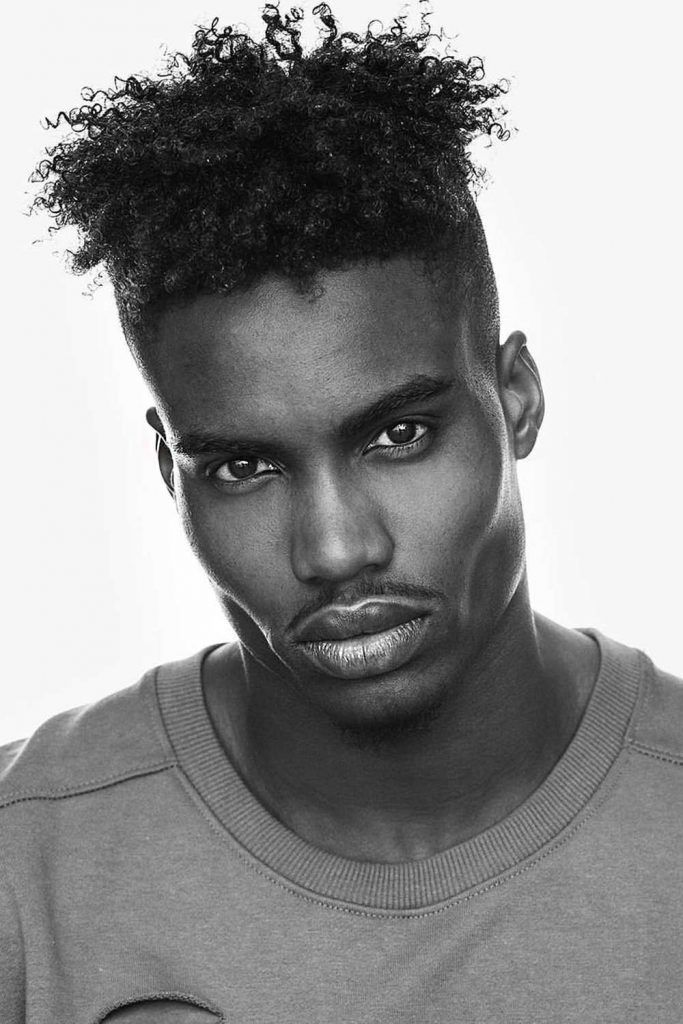 Curls Over An Undercut #fade #blackmenhaircuts #haircutsforblackmen #afrohair