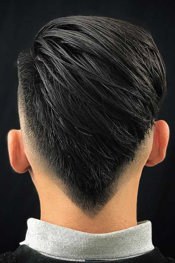 Burst Fade With A V Shape #burstfade #fadehaircut