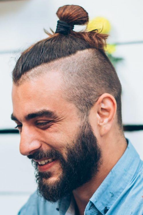 Disconnected Undercut On Long Hair #topknot #manbun #undercut #disconnectedundercut #mensundercut