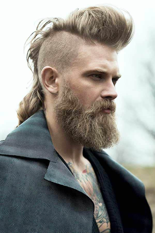 Mohawk Disconnected Undercut With Beard #mohawk #fauxhawk #beard