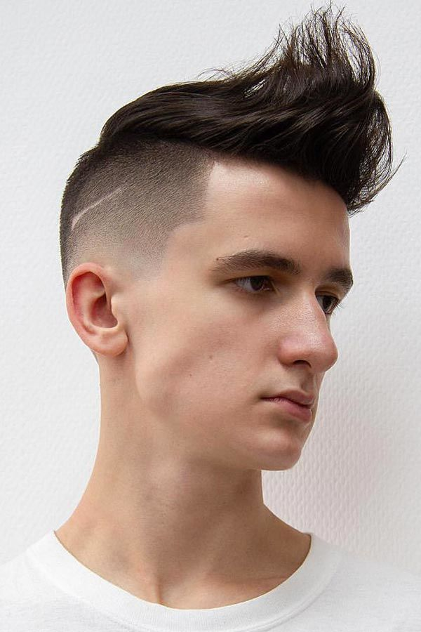 Spiky Quiff With A Disconnected Undercut #undercut #disconnectedundercut #mensundercut