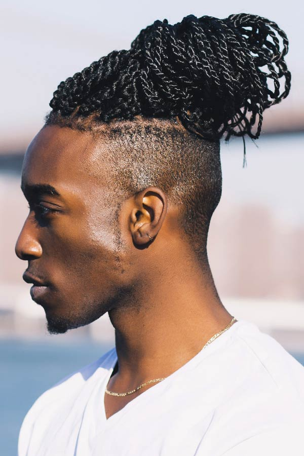 Twisted Long Braids #undercut #disconnectedundercut #mensundercut