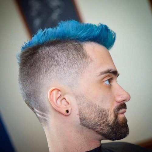 Awesome Blue High Top #highflattop #hightopfade #haircuts