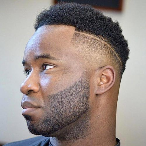 High Top With Shaved Stripe  #highflattop #hightopfade #haircuts