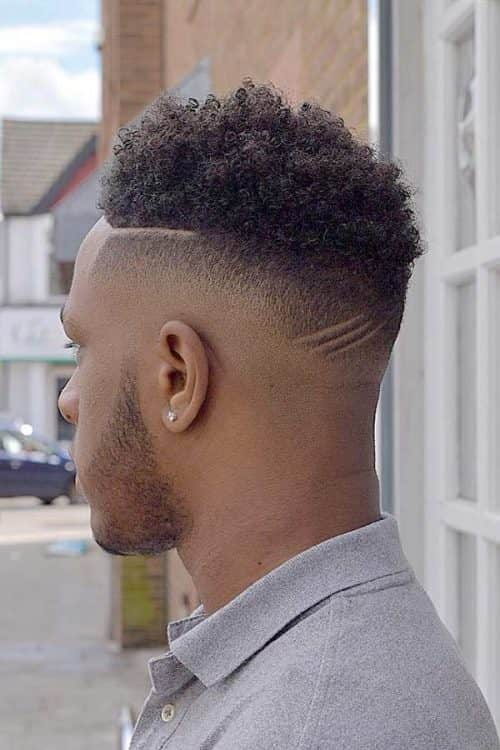 Textured Curly Top #haircutfade #fadedesign