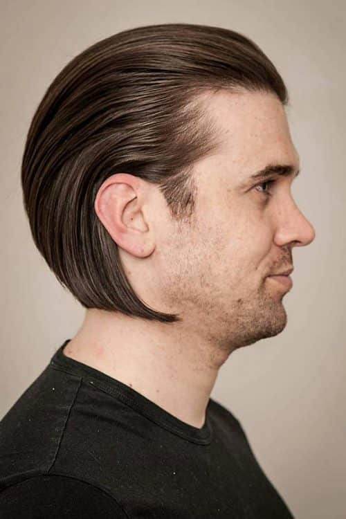 Long Slick Back Hair #longhairmen #slickbackhair #slickedbackhair
