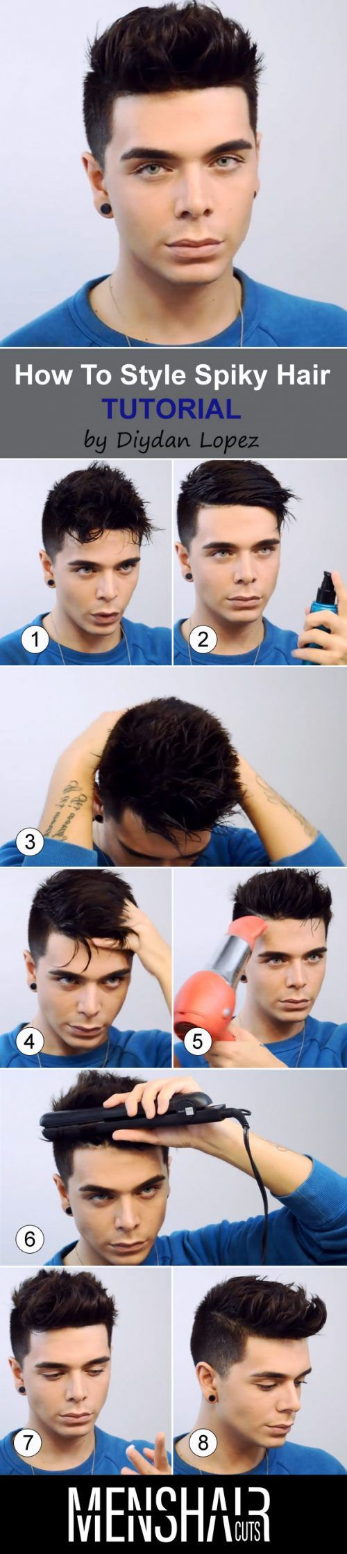 How To Style Spiky Hair #spikyhair #hairstyles