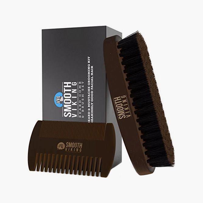 Never Skip Brushing With Beard & Mustache Brush and Comb Kit (Smooth Viking) #beardproducts #beard #howtotrimabeard