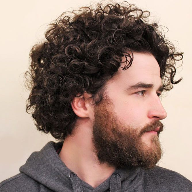 Voluminous Tight Curls #jewfro #jewfrohairstyles #curlyhairmen #curlymen