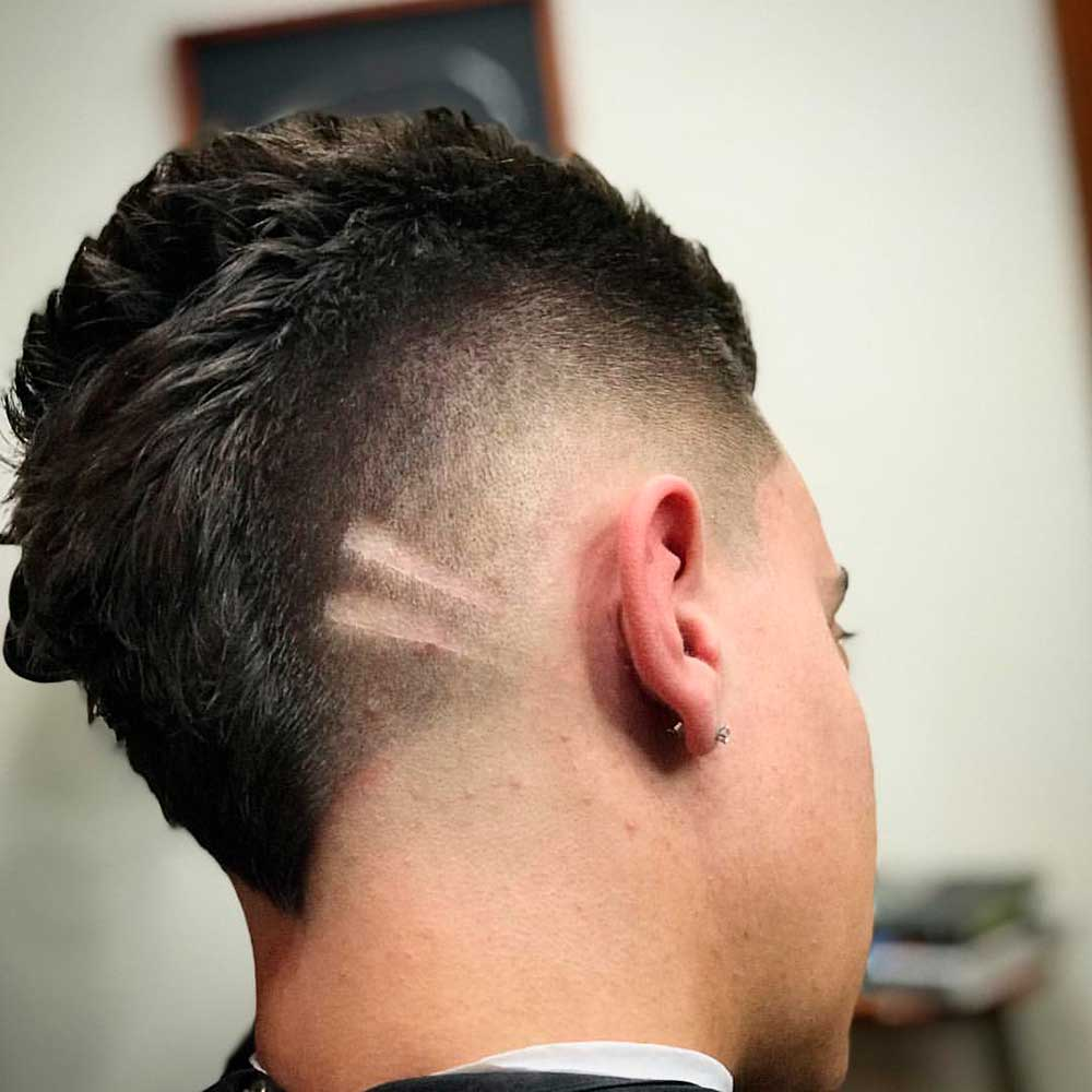 Thick Hair Faded Mohawk #mohawk #fade #mohawkfade