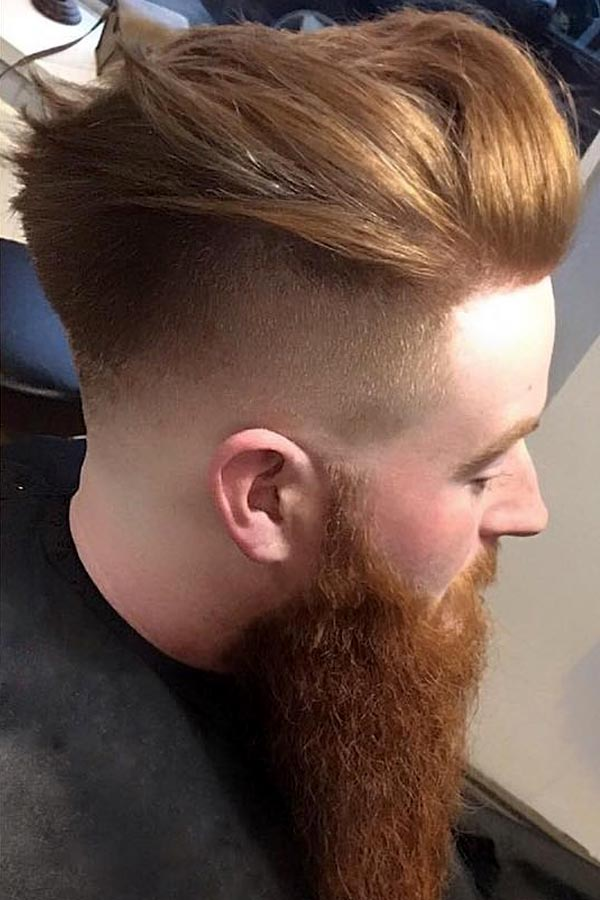 Auburn Pomp With Long Beard #pompadour #pompadourmen