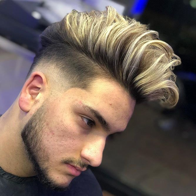 Blonde Highlighted Pompadour #pompadour #pompadourmen