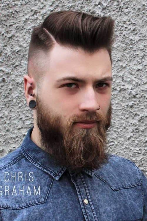 Comb Over Haircut #combover #comboverfade #beard #recedinghairline