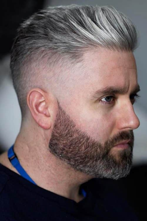 Try A Special Treatment #fade #quiff @greyhair #silverhair #recedinghairline