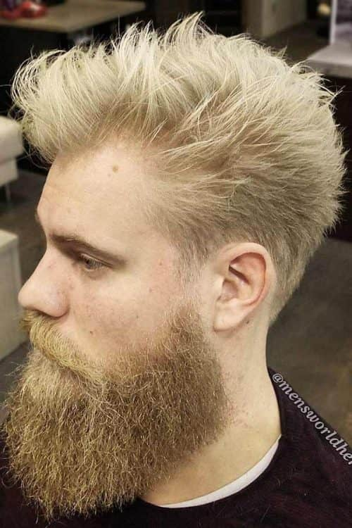 Spiked Hair #spikyhair #blondehair #beard #recedinghairline