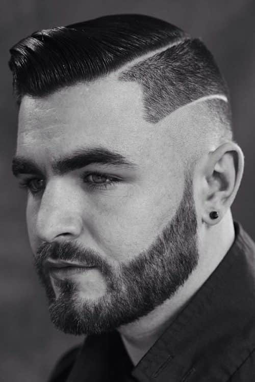 Sectioned Line Up Cut #lineupcut #combover #tempfade #fadehaircut #beard