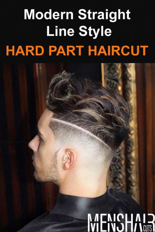 Hard Part Haircut Modern Straight Line Style