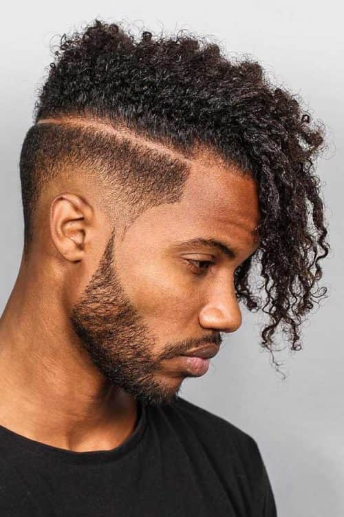 Curly Hair Undercut #curlyhairundercut #undercut #bearddesign