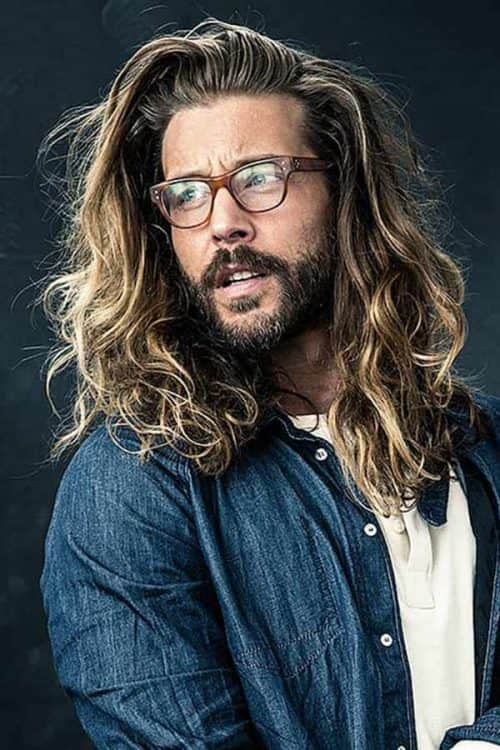 Long Messy Waves #longwaves #curlyhairmen #longmenshairstyles