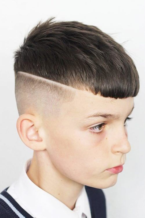 Textured French Crop With Straight Fringe #boyshaircuts