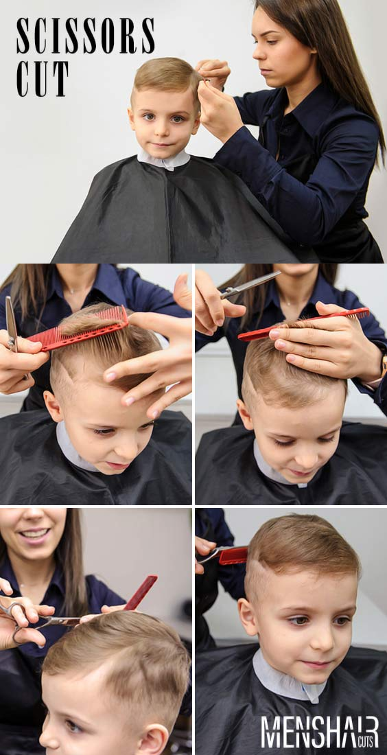 Using Scissors #boyshaircuts #haircutsforboys #howtocutboys