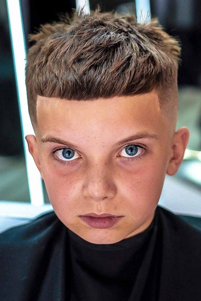 Classic Crop With Fade & Fringe #boyshaircuts #boyshair #haircutsforboys