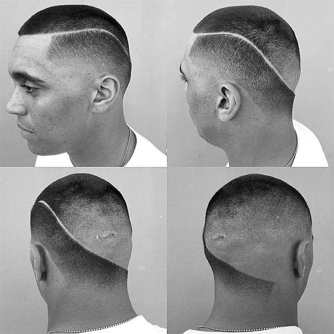 Buzz Cut With Hard Part #buzzcut #hardpart #hardparthaircut