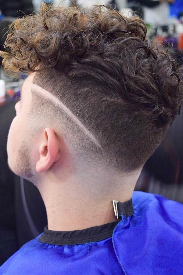 Curly Hard Part #hardpart #hardparthaircut #haircuts