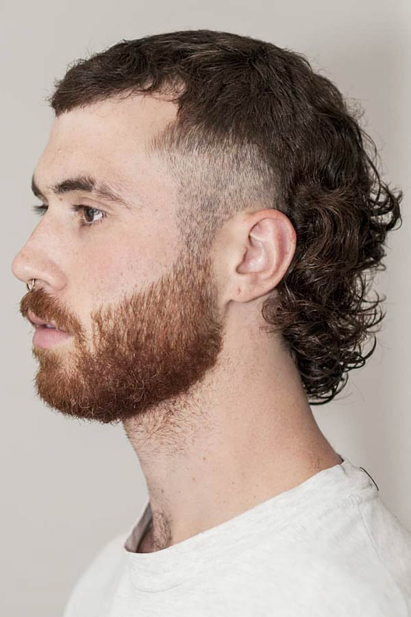Curly Mullet #mullet #mullethaircut
