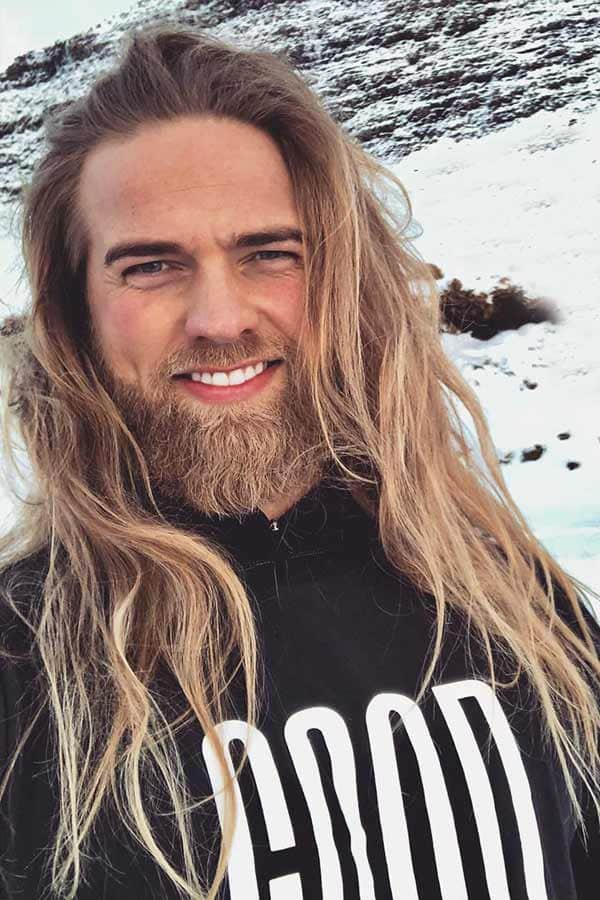 Long Hair And Beard #menslonghair #vikinghairstyles #fullbeard