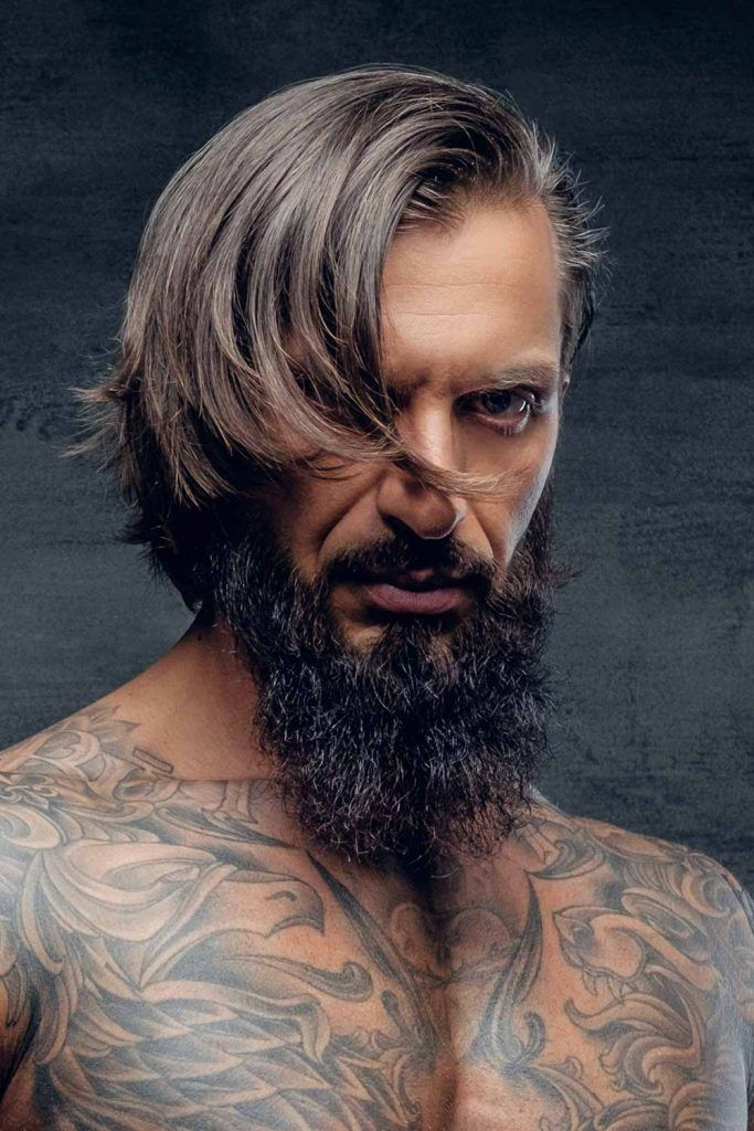 Medium Length Hair With Beard #vikinghairstyles #vikinghaircut #vikinghair
