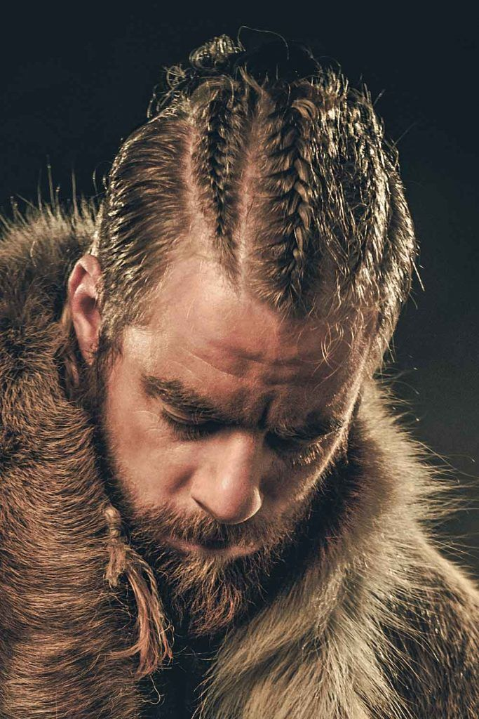 Long Undercut With Cornrows #vikinghairstyles #vikinghaircut #vikinghair