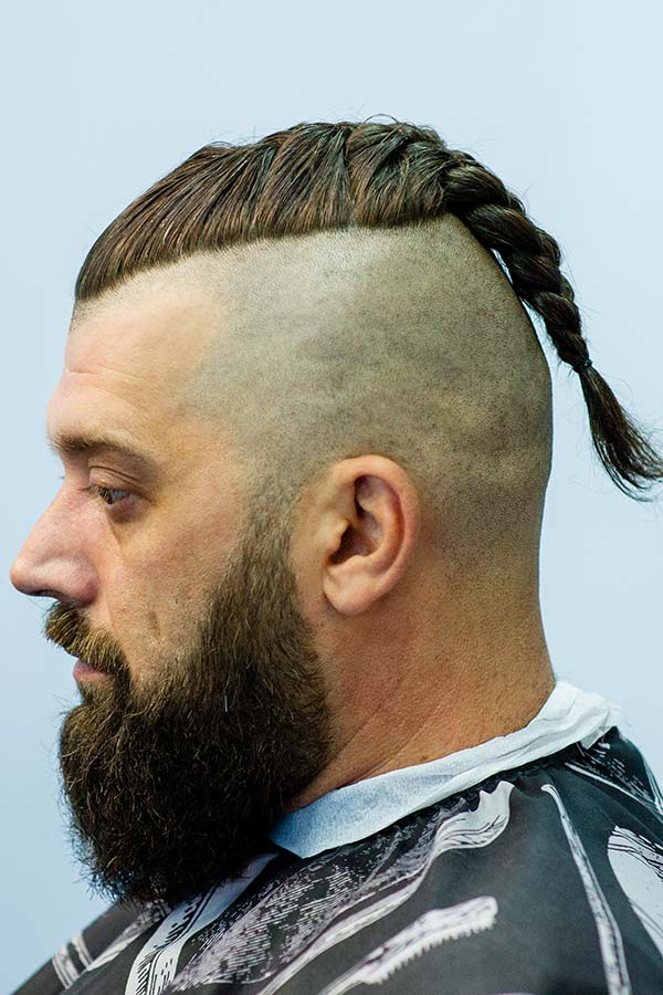 Viking Man Braid #vikinghaircut #vikinghairstyles
