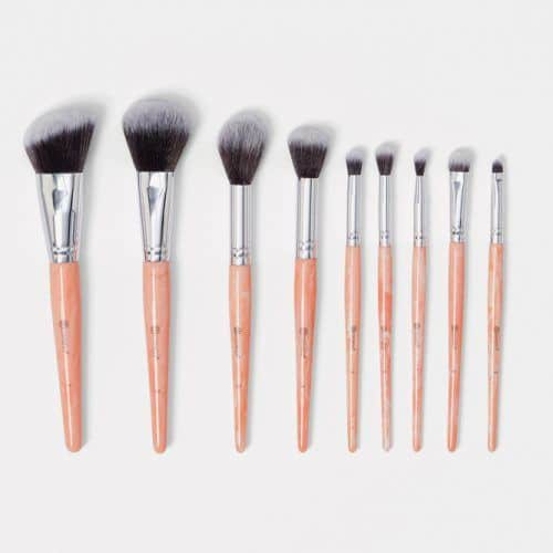 Rose Quartz 9 Piece Brush Set #christmasgifts