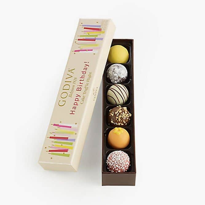 Happy Birthday Cake Chocolate Truffle Flight Great For Any gift Birthday Gift, 6 Count #birthdaygifts