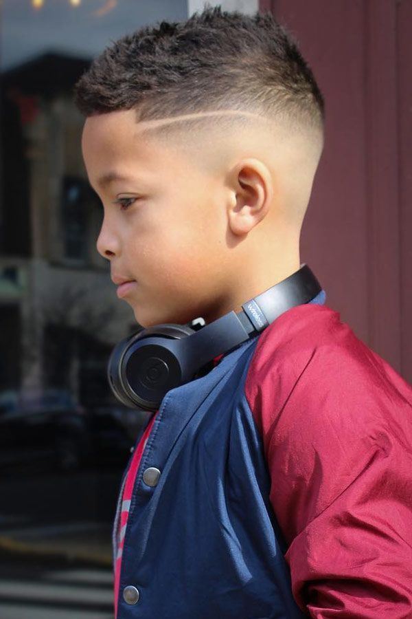 Gelled Haircut With A Skin Fade #boyshaircuts #haircutsforboys #blackboyshaircuts