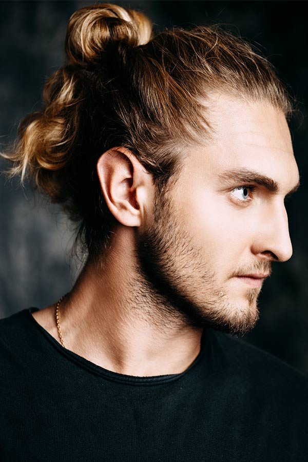 The Full Head Knot Style #howtogrowhair #longhairmen