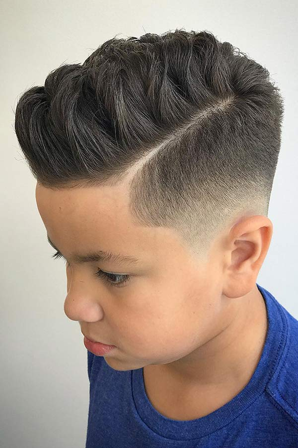 Faux Hawk Fade #boyshaircuts