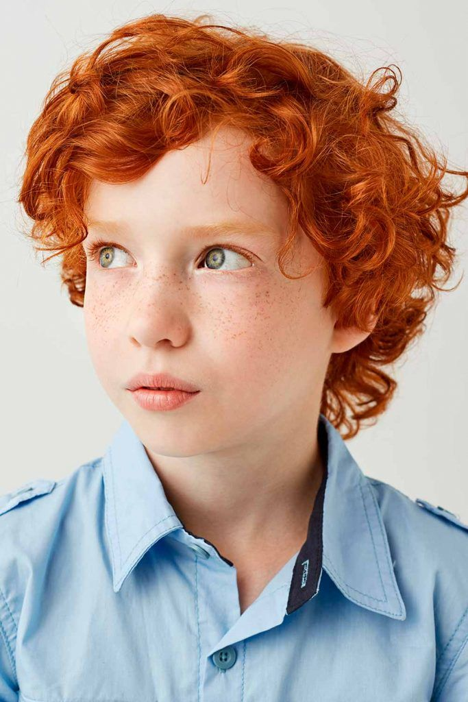 Red Curly Little Boy Haircuts #boyshaircuts #littleboyhaircuts #todlerboy #boyshair #todlerboyhair