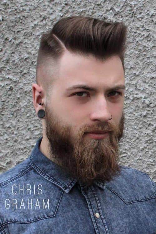 Pompadour Fade With Beard #pompadourfade #fadehaircut #hightop #pompadour #shortmenshaircuts
