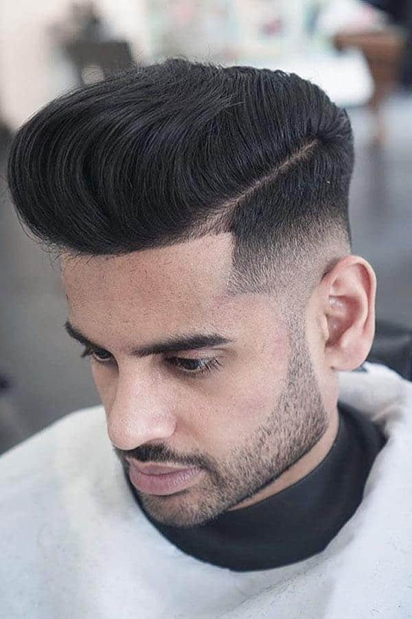 Best Types Of Men's Pompadour Fade Haircuts #pompadour #pompadourfade #hardpart #beard #fadehaircut #hightop #shortmenshaircuts