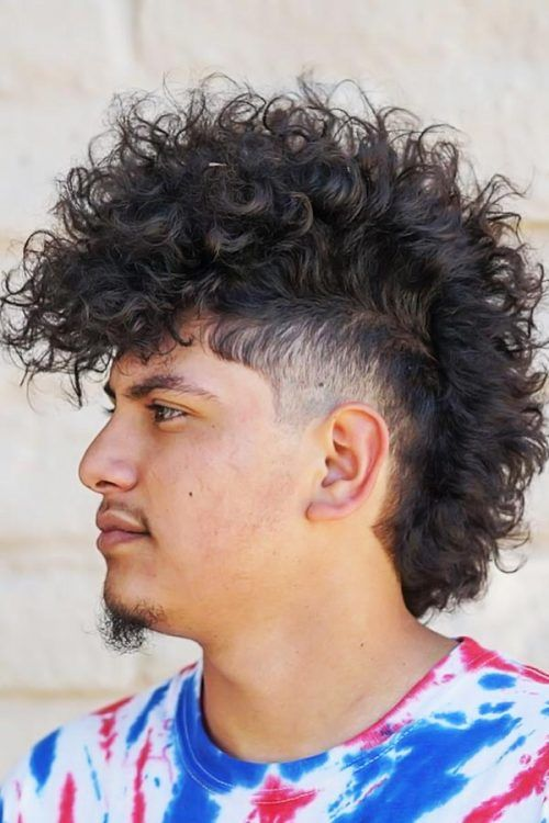 Punk Hairstyle For Curly Hair #punkhairstylesformen