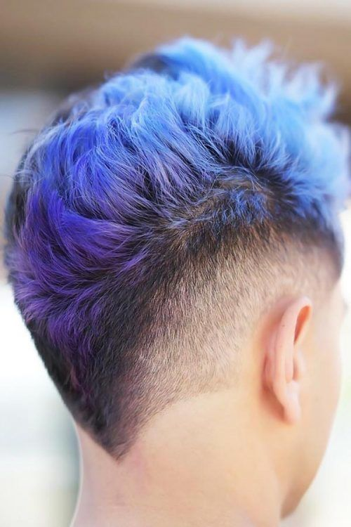 Purple Toned Hair And Tapered Sides #punkhairstylesformen