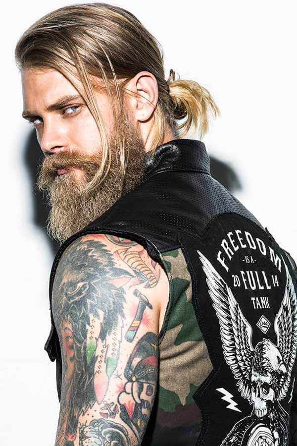How To Style Samurai Hair #samuraihair #manbun #blondehairmen