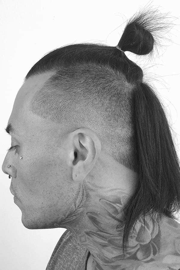 How To Get Samurai Hair #samuraihair #samuraibun #manbun