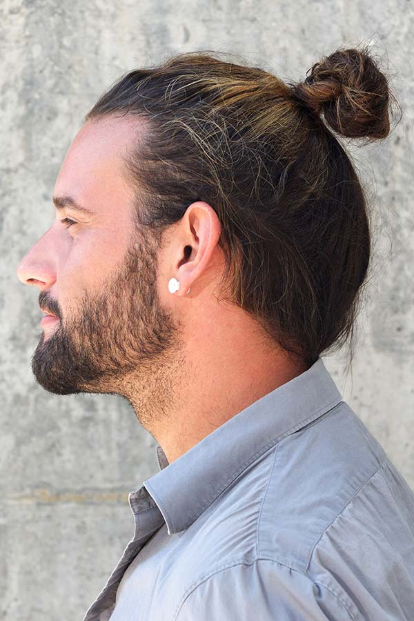 Highlighted High Bun #samuraihair #samuraibun #manbun