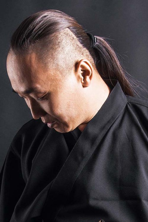 Undercut With Ponytail #samuraihair #manponytail